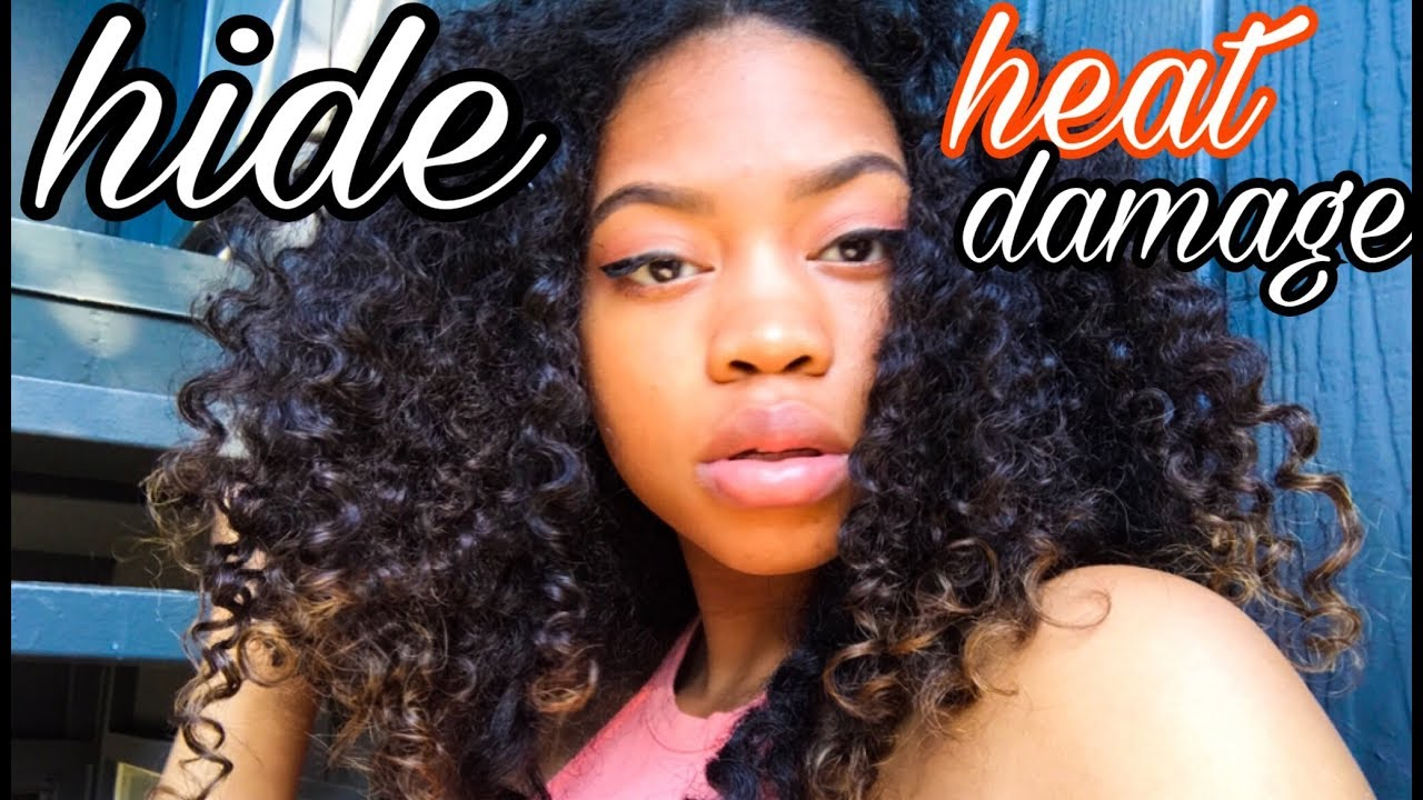 How To Hide Heat Damage On Natural Hair Sidne Power Youtube