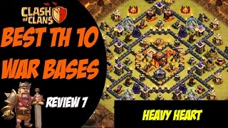 "Clash of Clans: Best TH 10 War Base Design - ""Heavy Heart"" #7"
