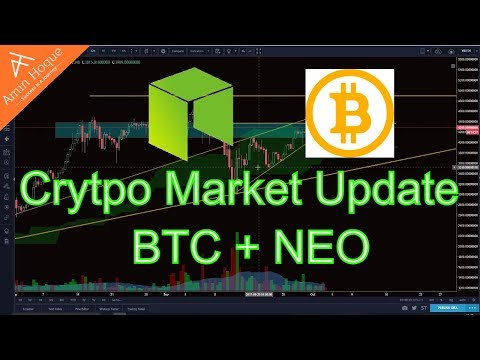 Cryptocurrency Market Update│Bitcoin and Neo Technical Analysis