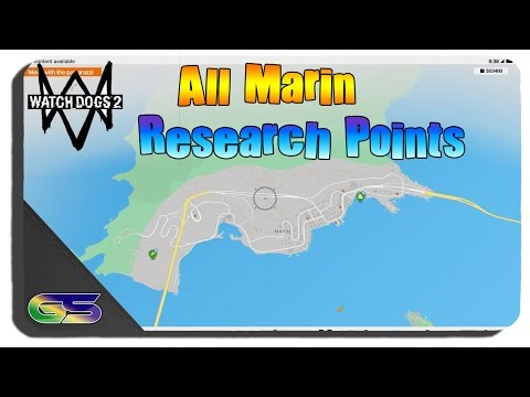 Watch Dogs 2 - All Marin Research Point Locations