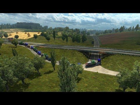 Доставка Локомотива - Bossloc в Euro Truck Simulator 2 с MEGA TRANS