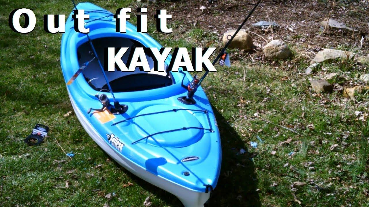 Outfit Kayak ROD HOLDER install flush-mount DiY Fishing ...