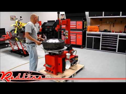 TC950 Tire Changer Demonstration By RedlineStands.com
