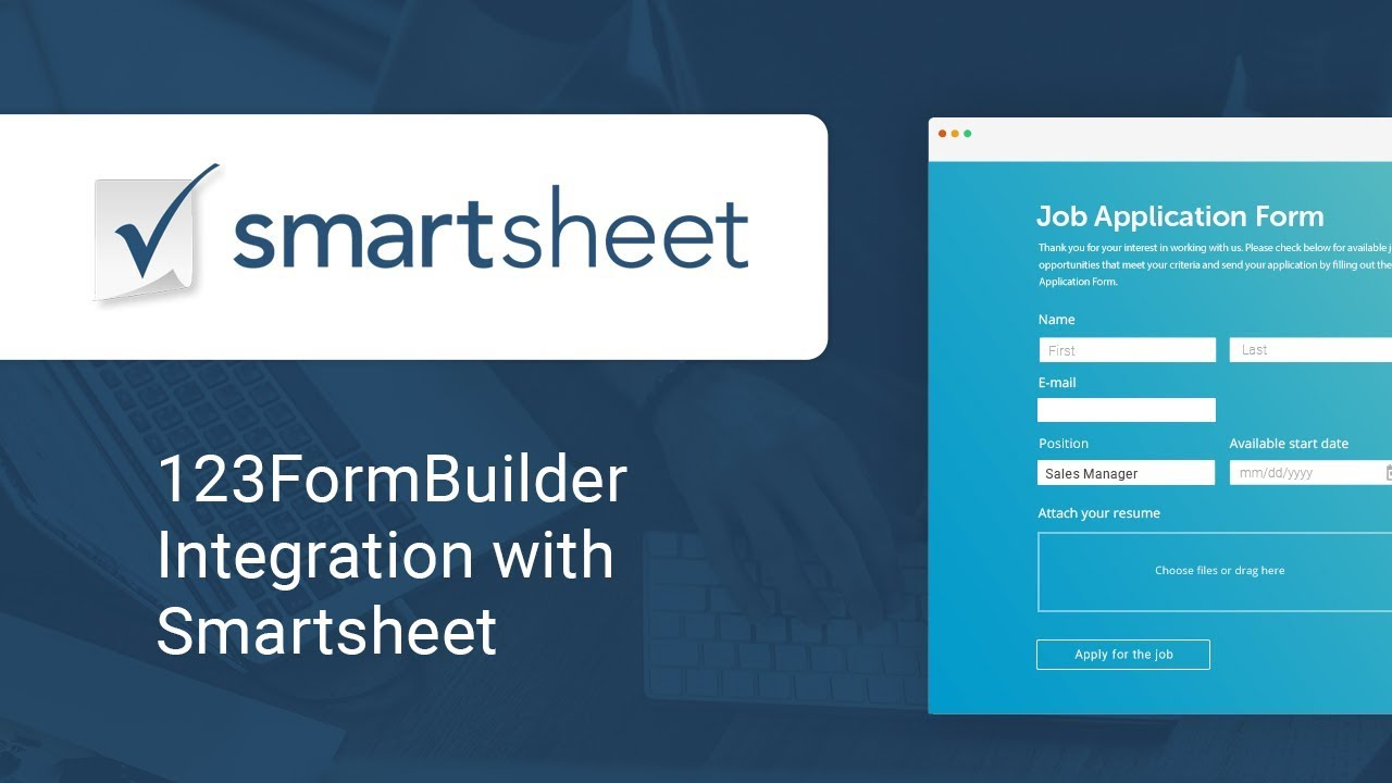 Collecting Form Data into Your Smartsheet