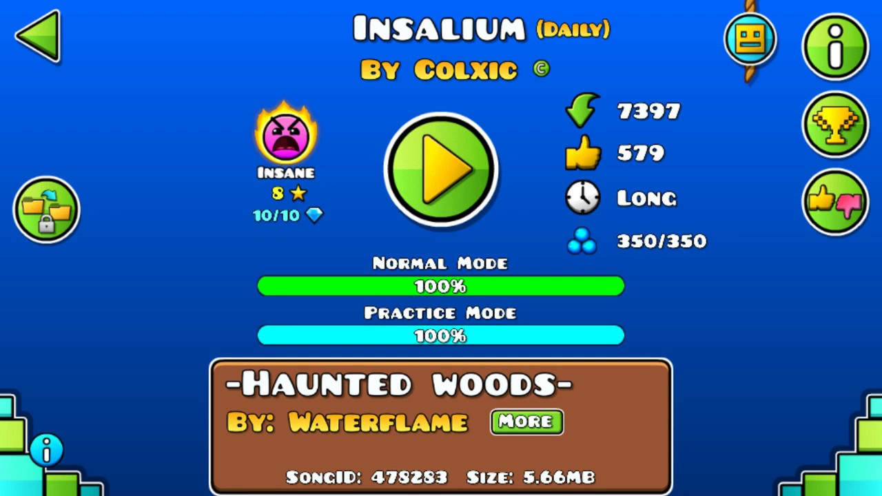 """Download [GD] """"Insalium"""" by Colxic (Daily level)   Geometry Dash 2.113"""
