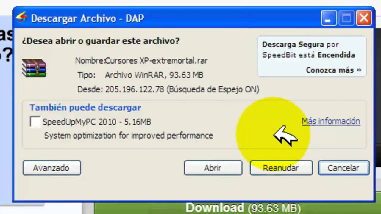 Tutorial en español del Download Accelerator Plus