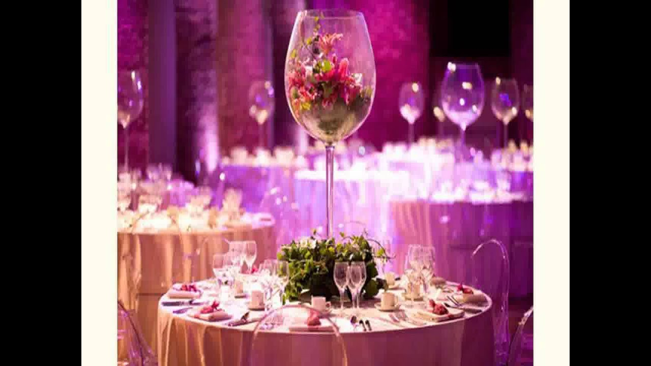 New wedding decoration ideas for reception youtube for Wedding banquet decorations
