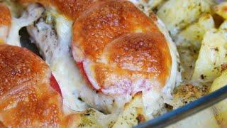 Картофель в духовке с курицей Рецепт для вкусного ужина