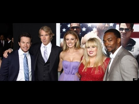 """PAIN AND GAIN"" Movie Interviews: Mark Wahlberg, Michael Bay, Tony Shaloub, Rebel Wilson & Bar Paly"