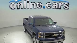 G97778TA Used 2015 Chevrolet Silverado 1500 LT 4WD Blue Test Drive, Review, For Sale