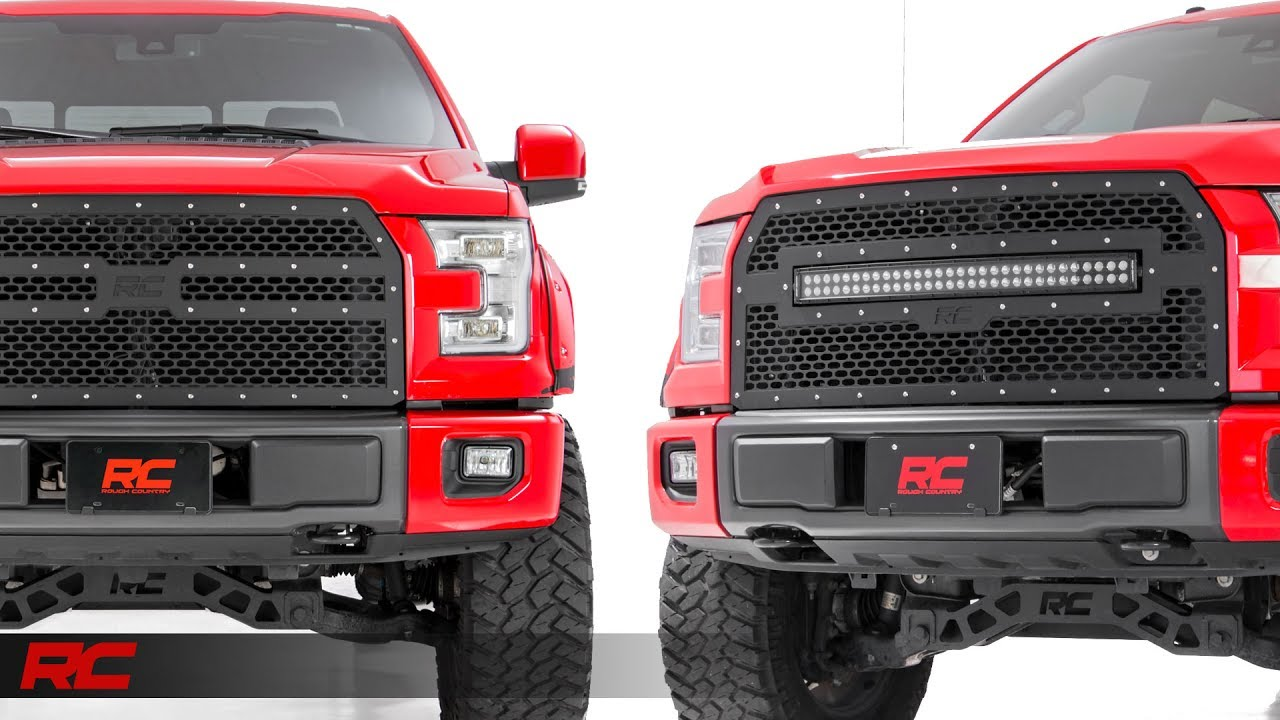2015 2017 Ford F 150 Mesh Grille Kit By Rough Country