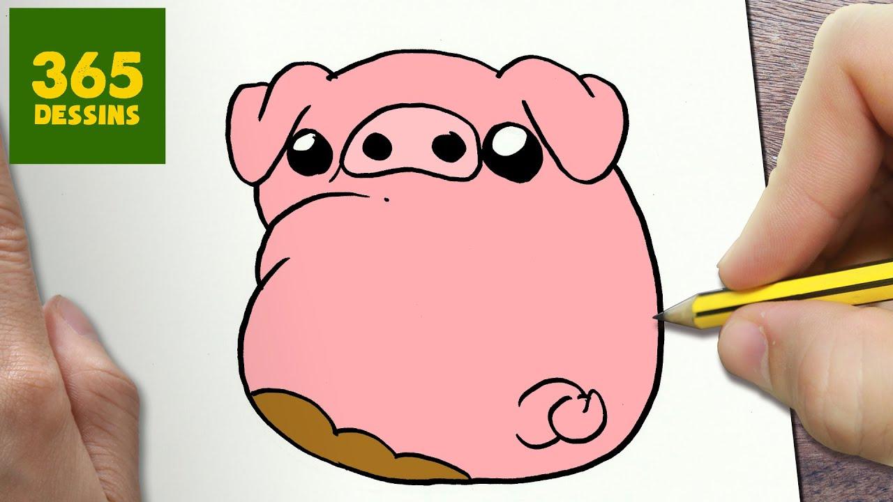 Comment dessiner waddles kawaii tape par tape dessins kawaii facile youtube - Animaux facile a dessiner ...