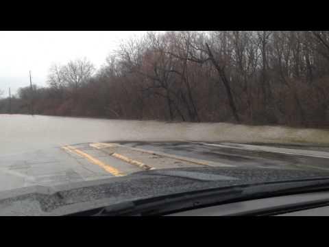 December 2015 Highway 50 Lebanon Illinois flood.