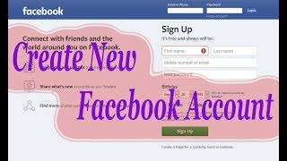 How to tech: create new Facebook account