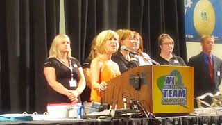 Lisa Smith  National Anthem at APA National Team Championships