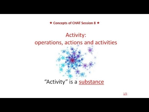 Lecture 8. Activity: operations, actions and activities