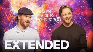 James McAvoy Michael Fassbender On 'Dark Phoenix' ' T Chapter 2' Nightmares   EXTENDED