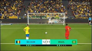 BELGIUM vs BRAZIL | Penalty Shootout | HAZARD vs NEYMAR | PES 2018 Gameplay PC