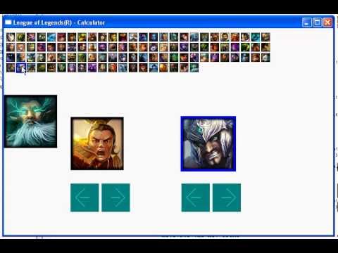 C League Of Legends Calculator Demo Update Youtube