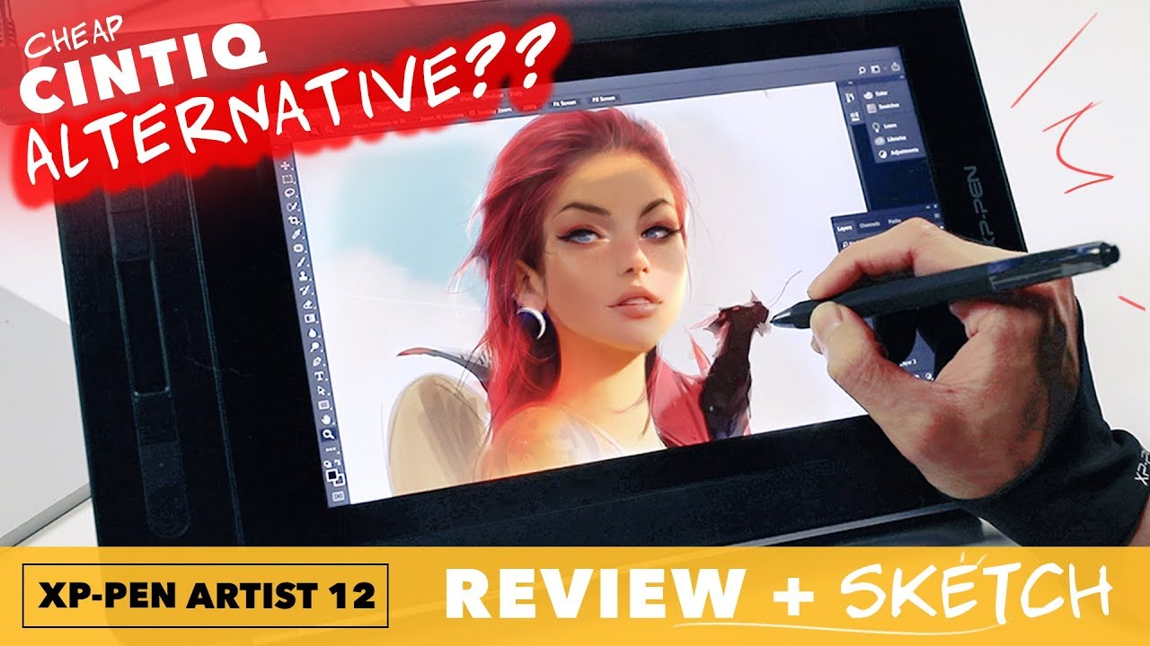XP-Pen Artist 12 Tablet Review and SKETCH!