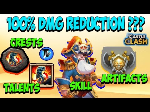 Castle Clash - Damage Reduction Stacking !!! Can We Attain 100% DMG Reduction?