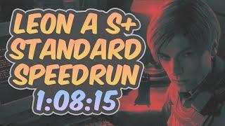 Resident Evil 2 Remake - Leon A Speedrun - 1:08:15