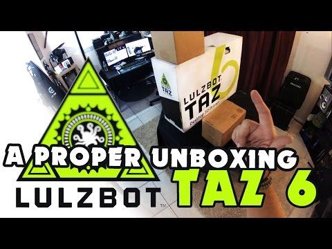 LulzBot TAZ 6 - A PROPER 3D PRINTER UNBOXING! HOW-TO SETUP
