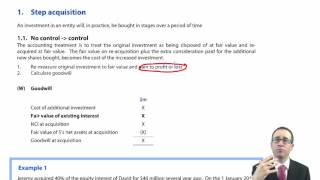 ACCA P2 Changes in group structure - Step acquisition