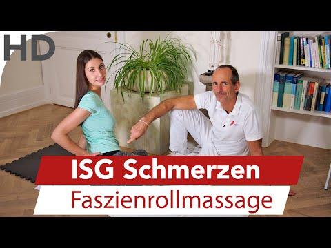 ISG Blockade lösen // Übungen mit der Faszienrolle gegen ISG Schmerzen