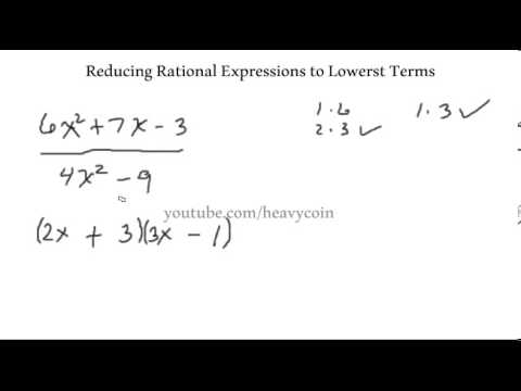 Reducing Rational Expressions to Lowest Terms