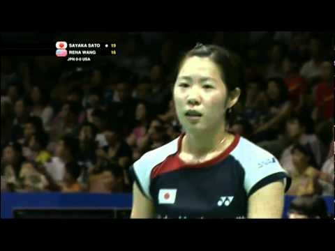 Group (Day 1) - Japan (S.Sato) vs USA (Rena Wang) - Uber Cup 2012