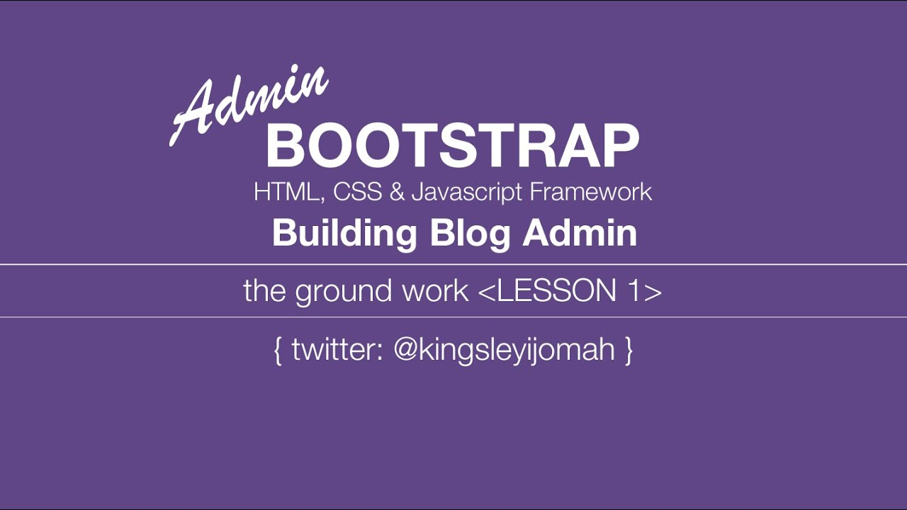 Bootstrap 3 tutorials complete building a blog admin video tut bootstrap 3 tutorials complete building a blog admin video tut for beginners 1 youtube baditri Image collections