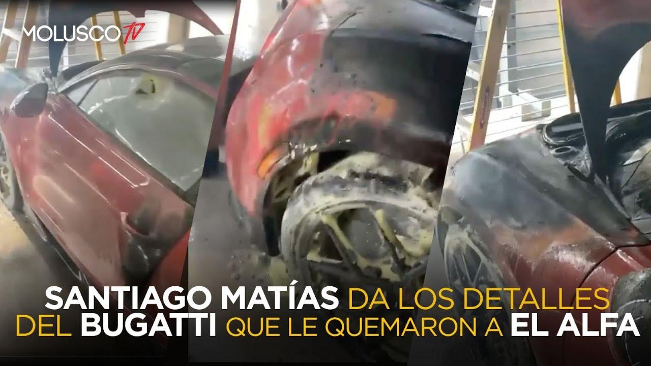 QUEMAN EL BUGATTI DEL ALFA, Santiago Matías le da declaraciones EXCLUSIVAS a Molusco