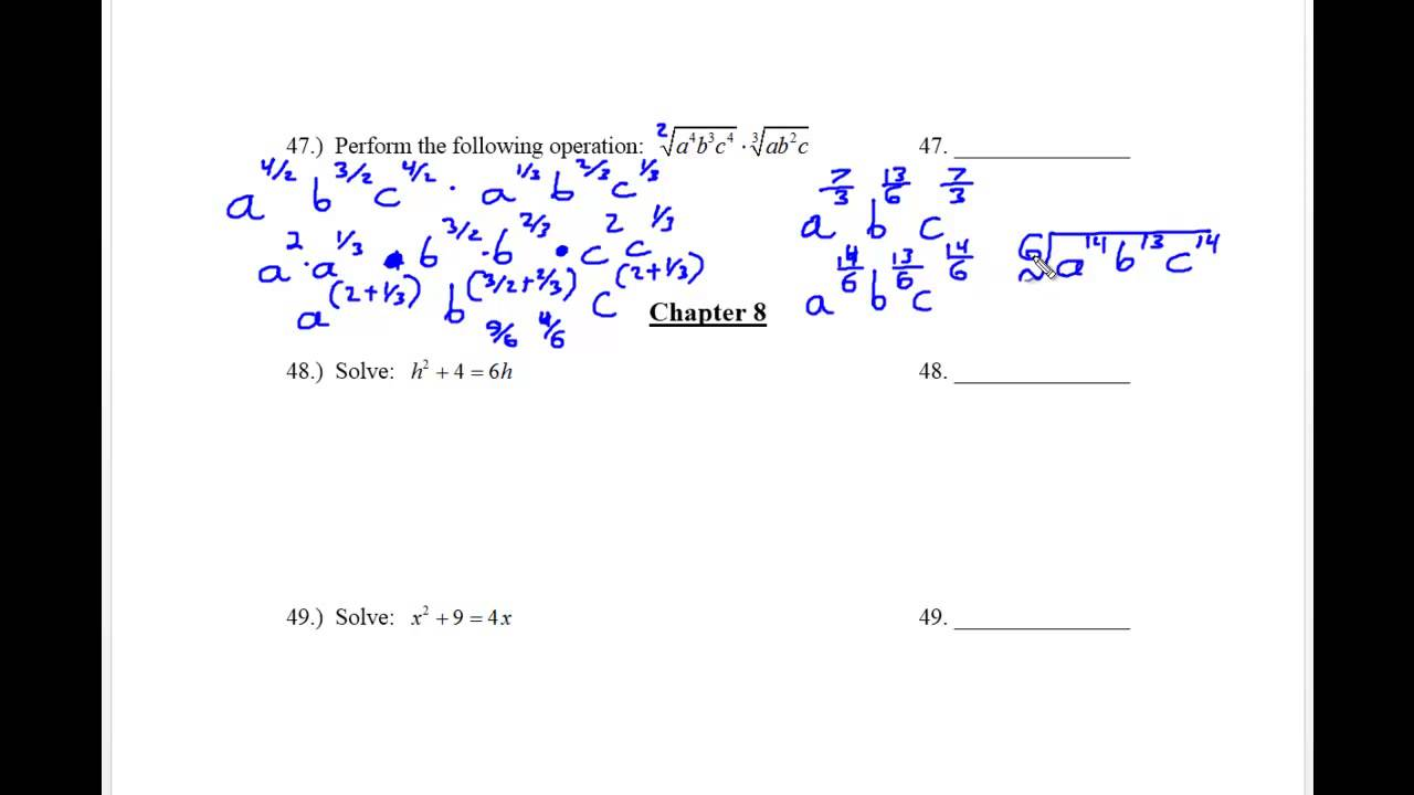 Kcc Math 121 Final Exam Review Part 11 Youtube