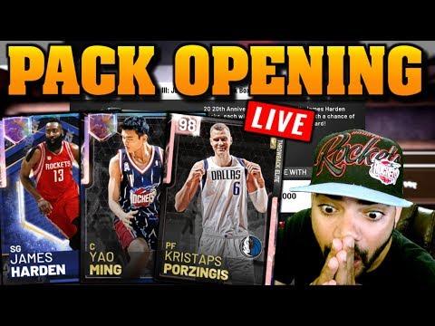 Galaxy Opal James Harden Amp Yao Ming Pack Opening Nba 2k19