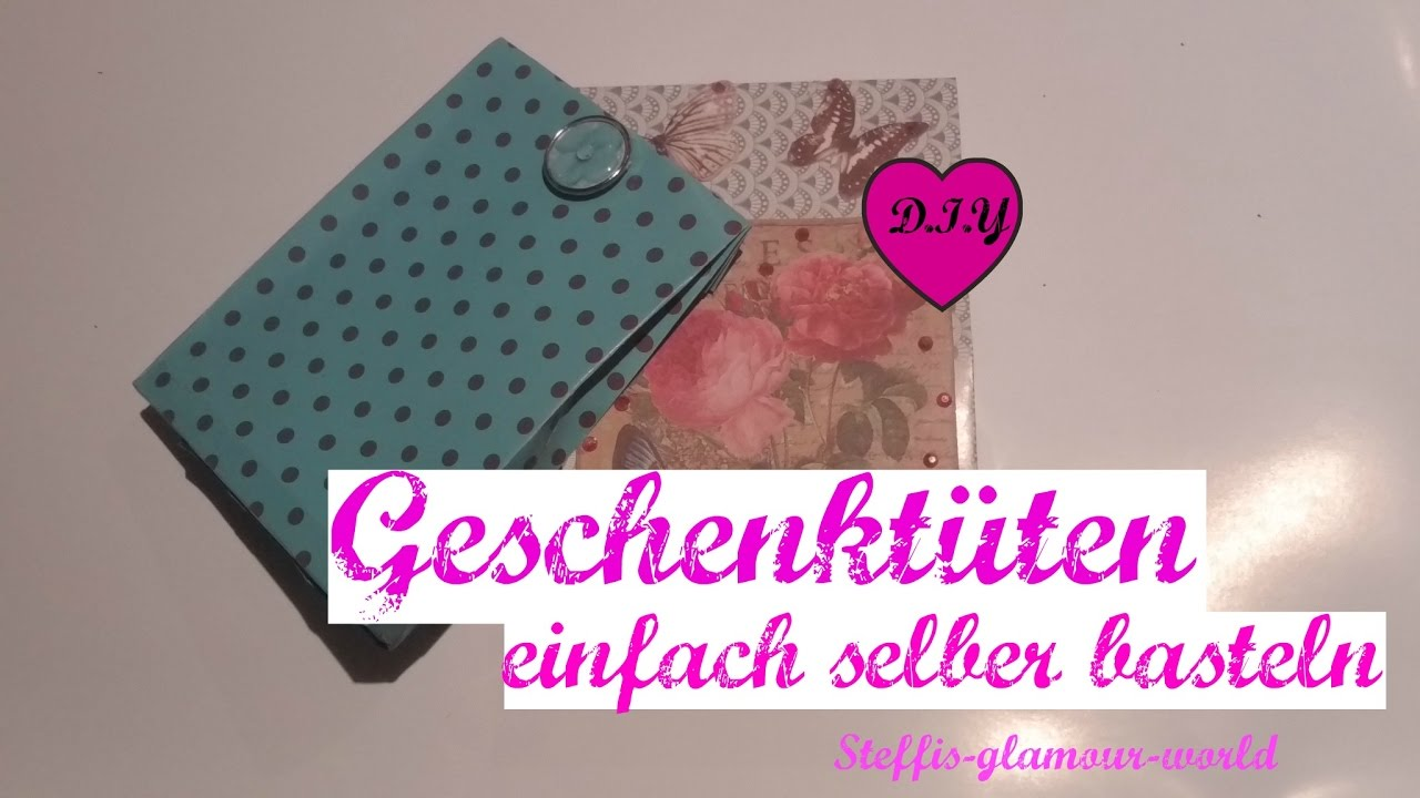 diy geschenkverpackung paper gift bag papiert ten selber. Black Bedroom Furniture Sets. Home Design Ideas
