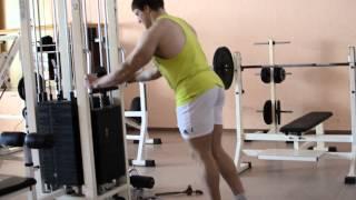Отведение ноги назад с акцентом на ягодичные мышцы