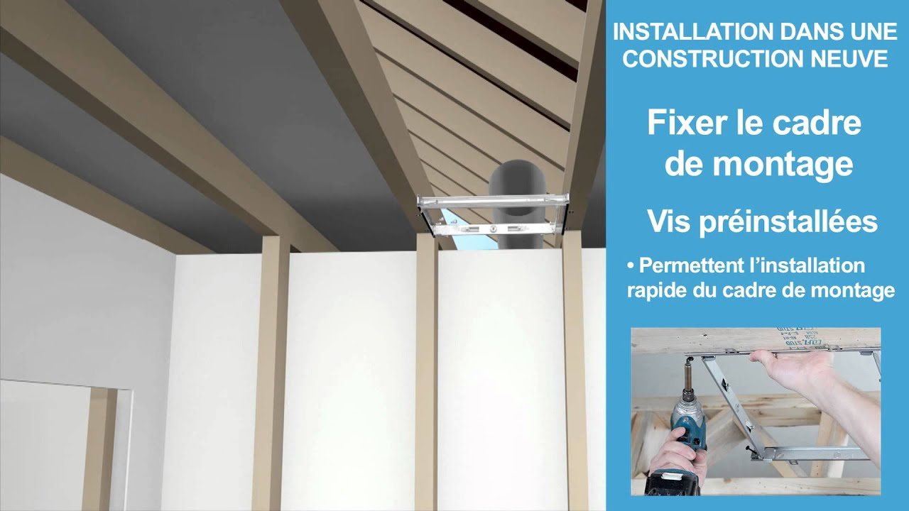 Broan nutone ultraquick technologie d 39 installation for Installation ventilateur salle de bain soffite
