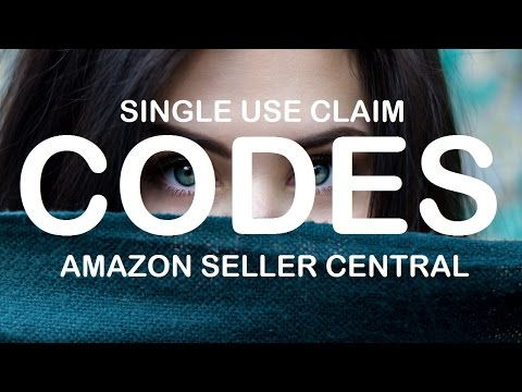 How to make single use claim codes in Amazon Seller Central 2017