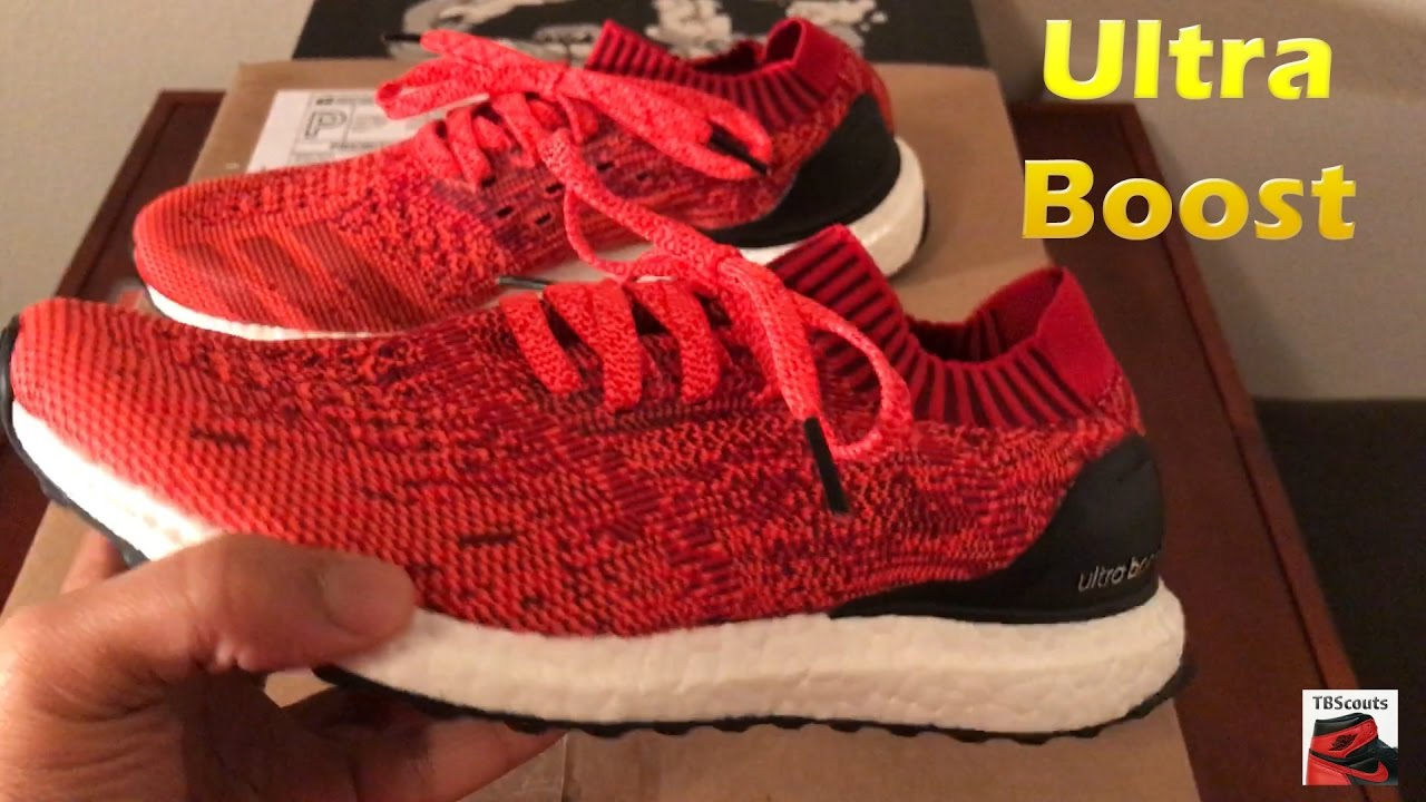 fa26c0399cb71 Adidas Ultra Boost Uncaged Solar Red BB3899 - YouTube