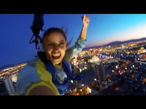 Reby Sky Jumps off the Stratosphere
