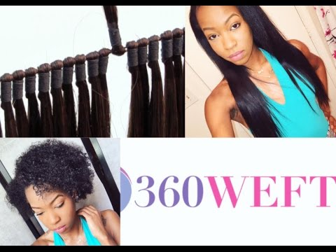 360 weft on Natural Hair |install