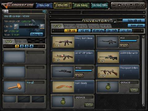 Clip mua combo 5 súng VIP game đột kích VN