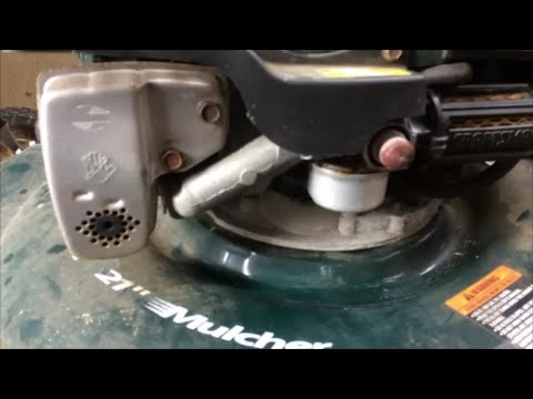Fix a Lawnmower That Starts Then Dies Sears Craftsman / Tecumseh With Metal Bowl