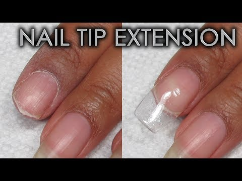 How To Make A Tip Extension Using Patching Products | DIY Nail Repair Tutorial