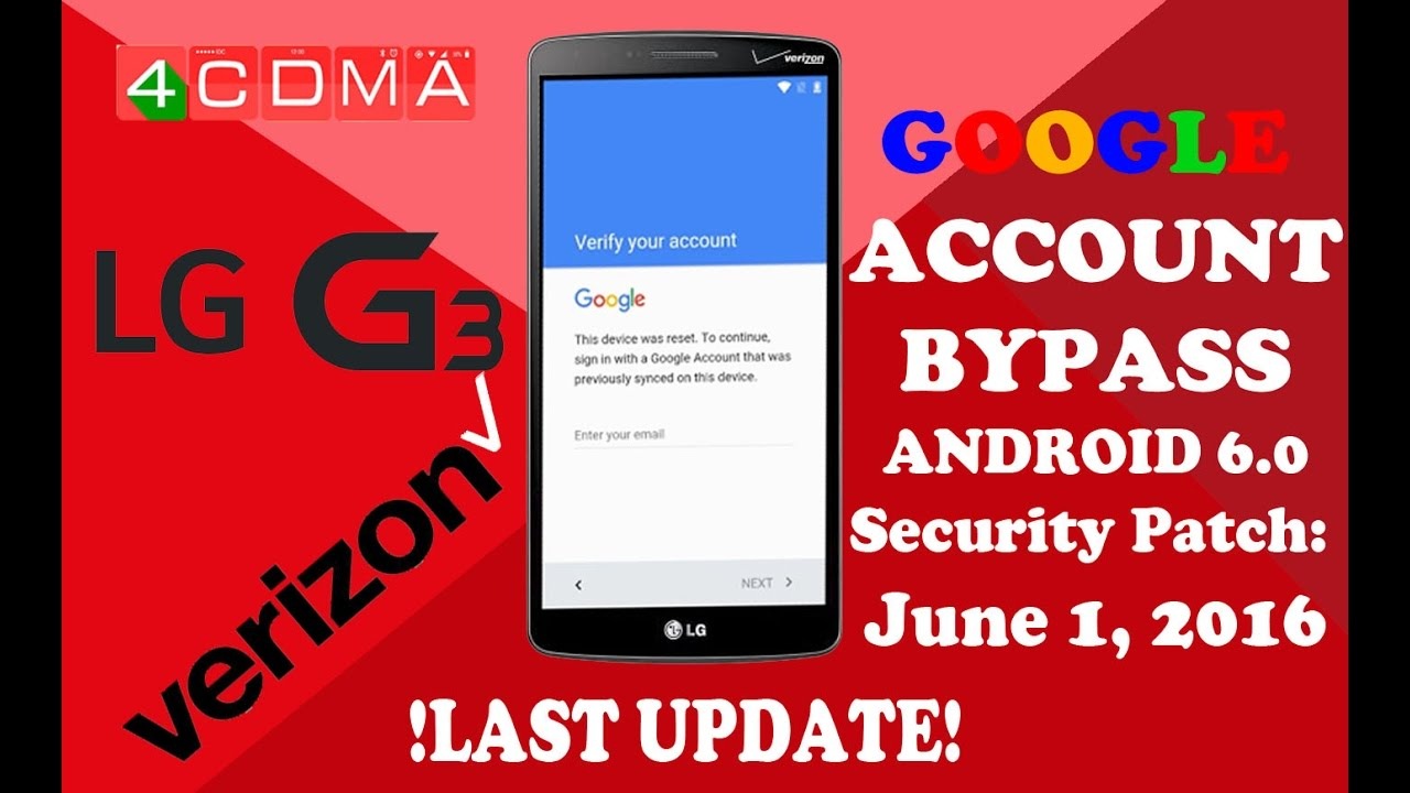 Lge lg g3 vs985 4g bypass google frp - updated August 2019