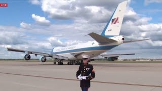 AMAZING AIR FORCE ONE TAKEOFF with President Donald Trump & Melania Trump, Departures to Ohio Rally