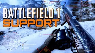 Battlefield 1: Support on Lupkow Pass - In the name of the Tsar DLC CTE (PS4 PRO Gameplay)
