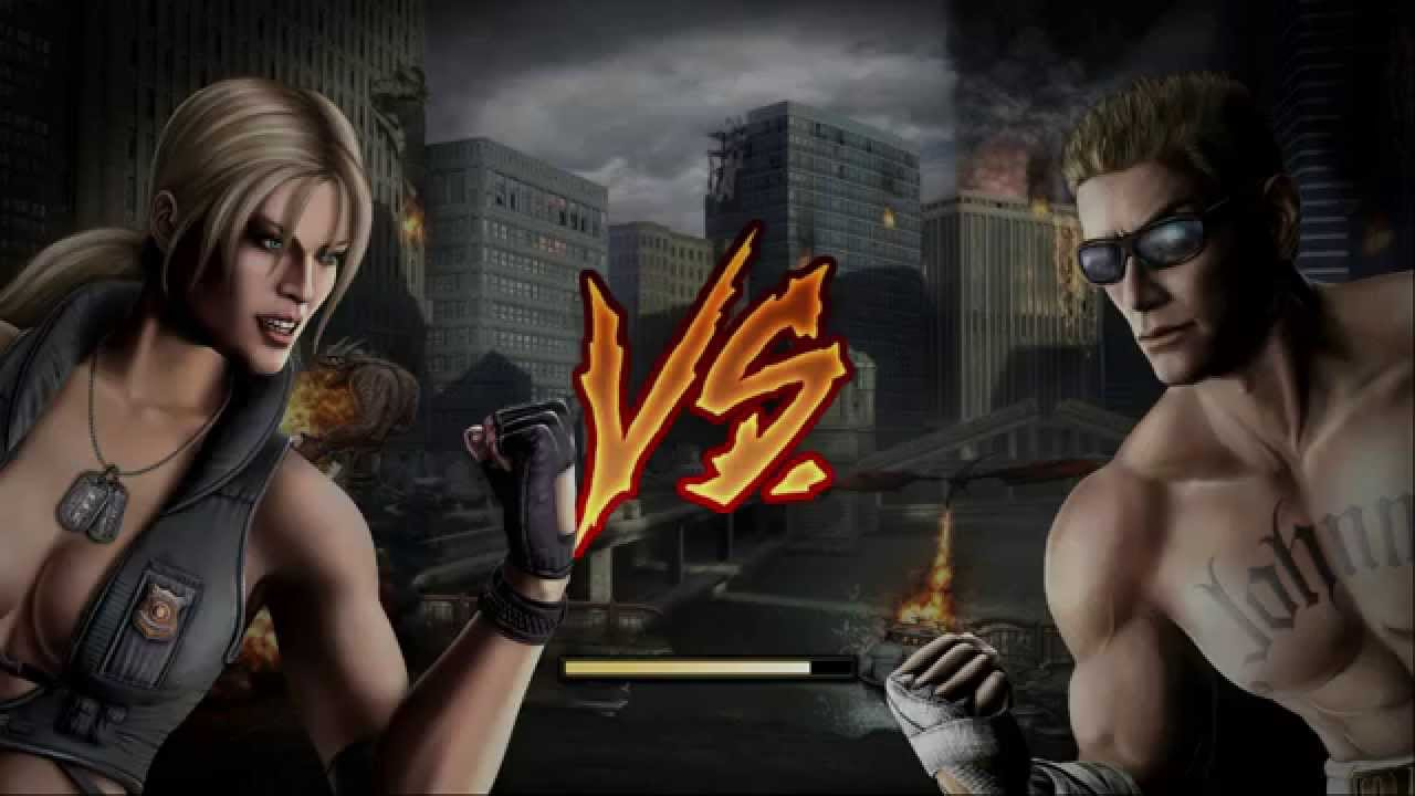 cage and blade johnny Mortal kombat sonya