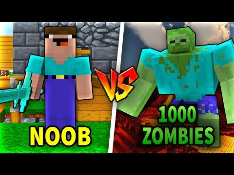 Troll NOOB Bằng 1000 CON ZOMBIES Trong Minecraft!!
